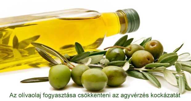 Az olívaolaj fogyasztása csökkenteni az agyvérzés kockázatát   Az olivaolaj jótékony hatása