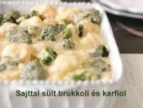 Sült brokkoli és karfiol sajttal-001