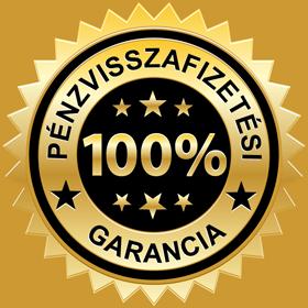 100 % Pénzvisszafizetési garancia