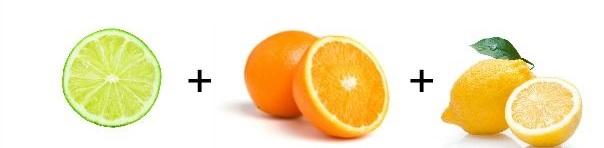 Citrom + lime + narancs