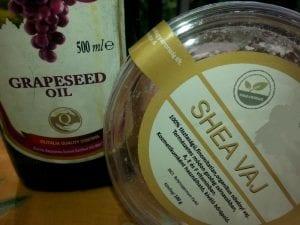 Arckrém szőlöőmag-olaj és Shea Vaj hozzáadásával
