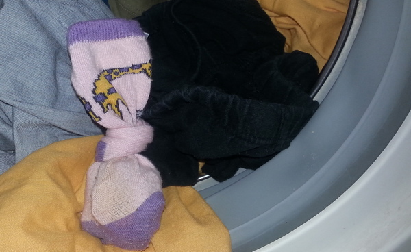 mosás vadgesztenyével-mosógép dobjába, a ruhák közé rakva