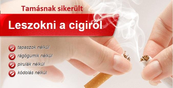 Elvonási tünetek nélkül, az elhízás veszélye nélkül. Tamasnak sikerult. Egyszer s mindenkorra szabaduljon meg a cigaretta káros hatásaitól, nikotinfüggőségtől!