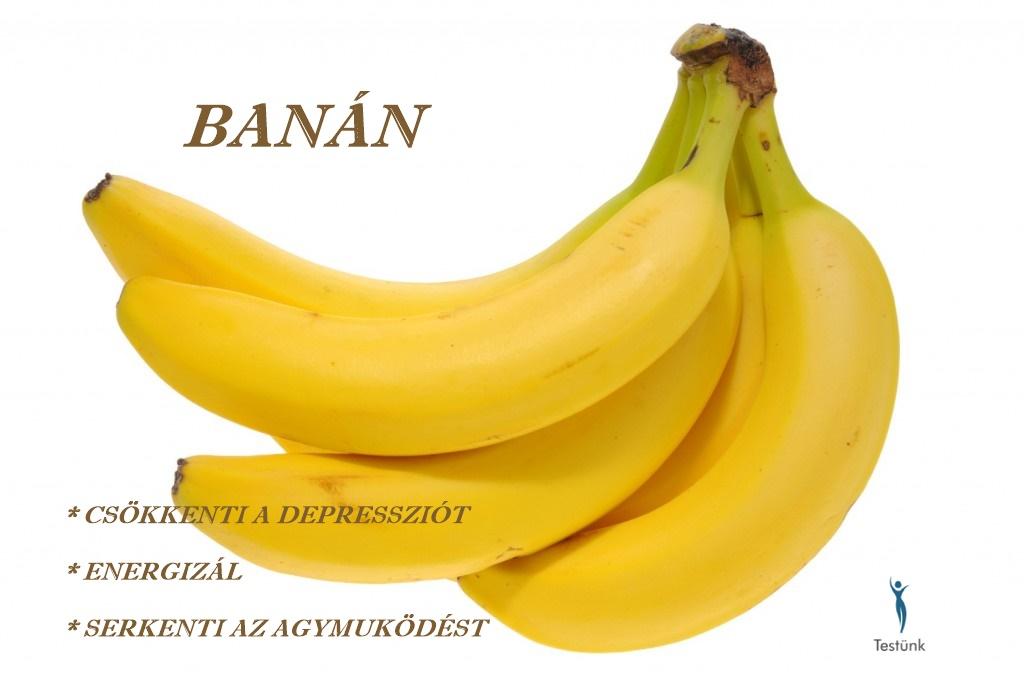 A banán egészségügyi előnyei a banán hatása