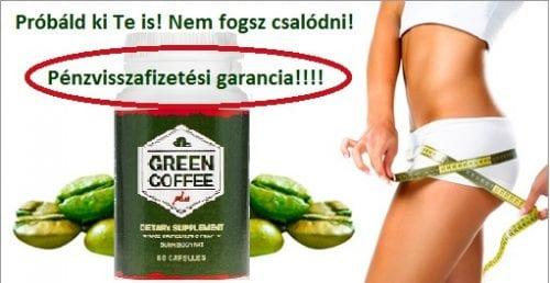 1 hetes diéta étrend mellé + Green Coffee Extract pénzvisszafizetési garancia