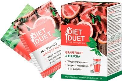 """A reggeli ital aktív összetevői a következők: rio red grépfrút, ismertebb nevén a """"Fogyókúrák császára"""" - segít a fehérjék feldolgozásában, valamint fokozza az emésztőnedvek enzimaktivitását, így az emésztés helyreállításával szabályozza a testsúlyt; étvágycsökkentő és anyagcsere serkentő hatással bír. Az éjszakai ital alkotóeleme a maccsa tea. Ez az összetevő serkenti az anyagcserét, a megszokottnál négyszeresen gyorsabban égeti el a zsírt, megtisztítja és méregteleníti az egész szervezetet, valamint étvágycsökkentő hatású."""
